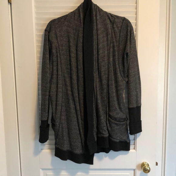 Tops - Grey marbled sweatshirt blazer